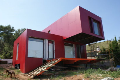 Construcci n de una casa en un contenedor mar timo - Contenedores maritimos para vivienda ...